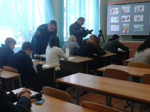 Сотрудники Госпожнадзора посетили школу-интернат «Наш дом»
