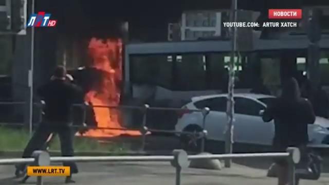 У станции метро «Котельники» сгорел рейсовый автобус